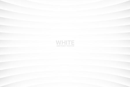 Fondo geometrico di vettore astratto sottile in bianco chiaro bianco. Superficie concava vuota leggera monotona. Carta da parati in stile minimalista. Futuristico illustrazione 3D