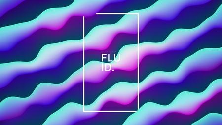 Fondo abstracto de vector diseño fluido