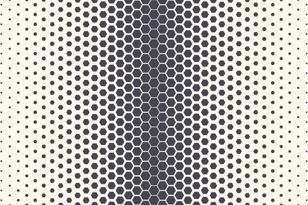 Hexagon Shapes Vector Abstract Geometric Technology Extreme Sports Background. Halftone Hex Retro Simple Pattern Backdrop. Minimal 80s Style Dynamic Tech Wallpaper
