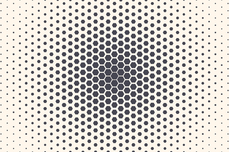 Hexagon Shapes Vector Abstract Geometric Technology Extreme Sports Isolated on Light Background. Halftone Hex Retro Simple Pattern Backdrop. Minimal 80s Style Dynamic Tech Wallpaper