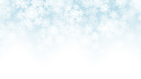3D Vector Falling Snow Effect Stock Photo