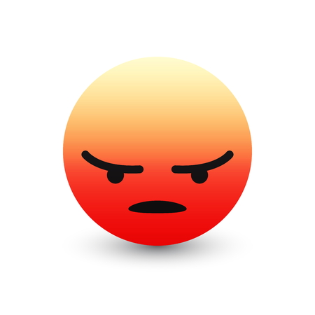 3D Vector Angry Emoticon Icon Design for Social Network Isolated on White Background. Modern Emoji Ilustração