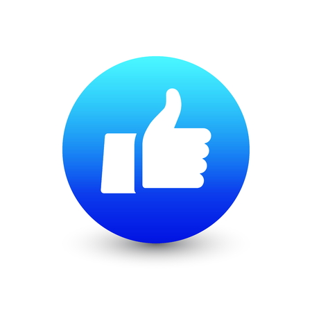 3D Vector Thumb Up Emoticon Icon Design for Social Network Isolated on White Background. Modern Emoji