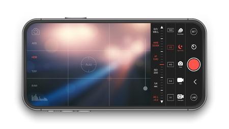 Mobile Professional Camera Vector UI Concept