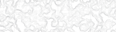 Ultra Wide Wallpaper Abstract Blank Topographic Contour Map Subtle White Vector Background Ilustração