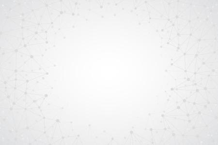 Streszczenie jasne proste tło technologiczne w jakości Ultra High Definition. Technologiczne Wielokątne Tapety Ze Strukturą Połączenia. Futurystyczna sieć neuronowa