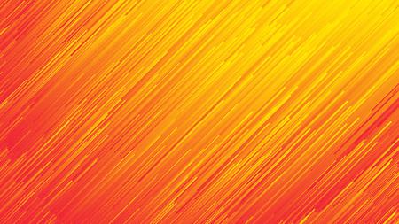 Dynamische stroom heldere levendige oranje rode gradiënt lijnen abstracte achtergrond in ultra high definition kwaliteit. Digitale glitch conceptuele kunst illustratie Stockfoto