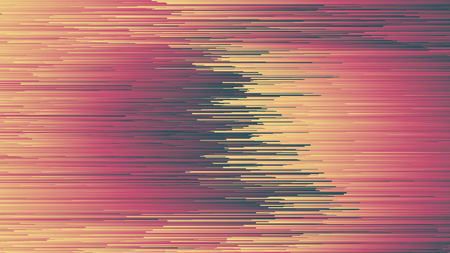 Digital Glitch Art Abstract Background In Ultra High Definition Quality. Dynamic Stripes in Movement Conceptual Illustration