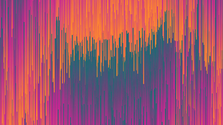 Digital Glitch Effect Colorful Abstract Background In Ultra High Definition Quality. Dynamic Vivid Color Striped Conceptual Illustration