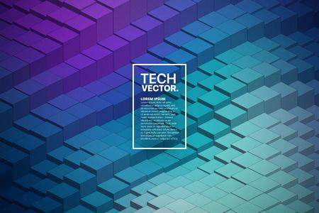 Technology 3D Waveform Abstract Vector Background 版權商用圖片 - 122955128