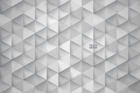 3D Technology Triangular Vector Abstract Background