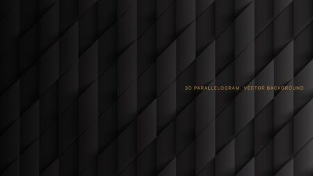 3D Vector Parallelograms Pattern Simple Dark Gray Abstract Background. Three Dimensional Science Technology Tetragonal Structure Darkness Wallpaper. Tech Clear Blank Subtle Textured Backdrop