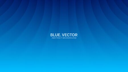 Vector Perspective Bent Smooth Lines Clear Blank Subtle Business Deep Blue Abstract Background. Futuristic Technology 3D Minimalist Illustration. Light Cyan Empty Surface Wallpaper. Blurred Backdrop