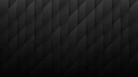 3D Parallelogram Pattern Conceptual Abstract Minimalist Black Background. Science Technological Tetragonal Structure Dark Gray Wallpaper Ultra High Definition. Three Dimensional Tech Blank Backdrop
