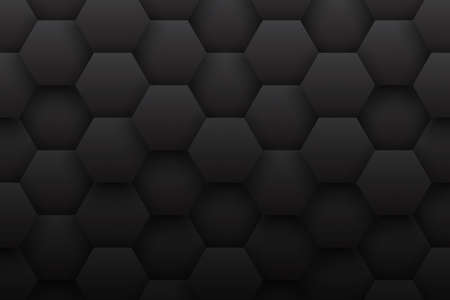 Tech 3D Hexagonal Structure Pattern Minimalist Black Abstract