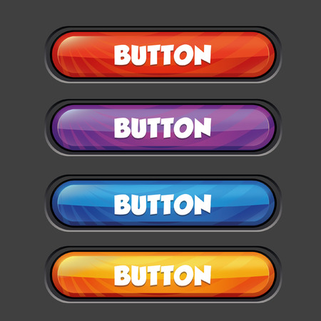 clicked: Vector colorful buttons Illustration