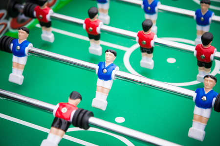 table football table football .sports teams players in red and b Stock Photo