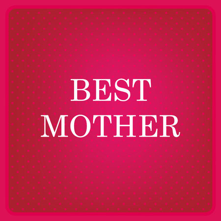 scarlet: Mothers  Day card. Red background with polka dots. Sample text. Vector illustration