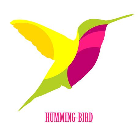 Icona del vettore del colibrì. Simbolo del logo Hummingbird.