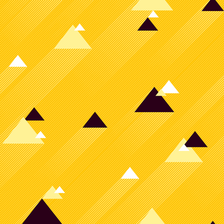 Abstract seamless pattern with Colorful Triangles. Vector background