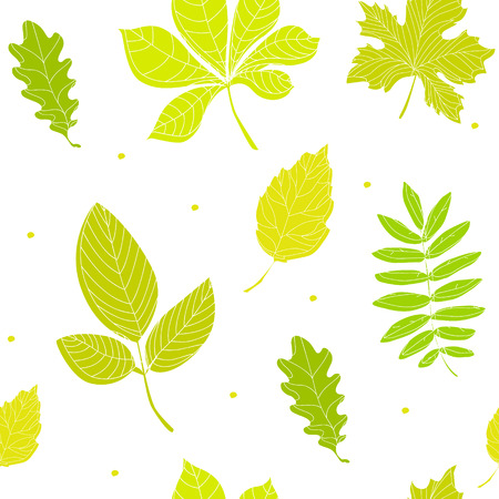Summer pattern with color leaves. Ornament for textile and wrapping.