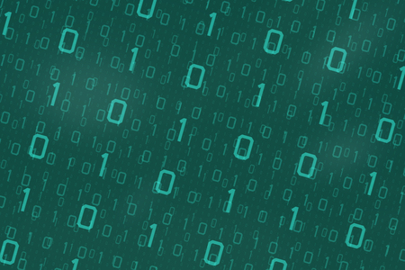 Binary code for background use in cyber technology concept