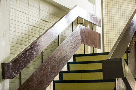 high tech: success or future or happiness concept. Stairs to success Stock Photo