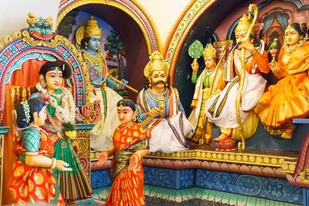 Close up of Hindu goddess Statue. hindu religious concept.