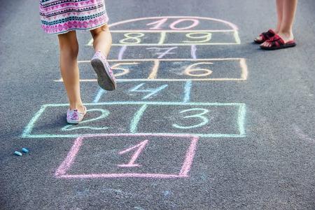 street children's games in classics. Selective focus. nature. Stock Photo