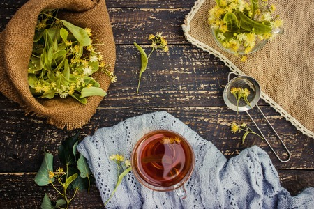 Linden. Linden tea. Selective focus nature tea Drinks Banque d'images