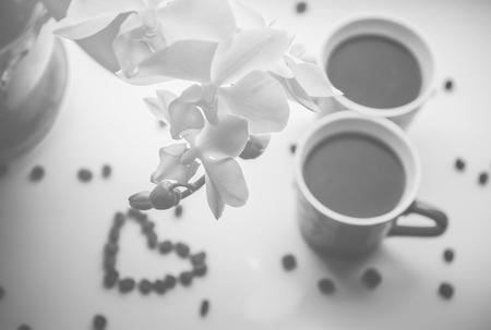 coffee bean. a Cup of coffee. selective focus. Reklamní fotografie - 116515992