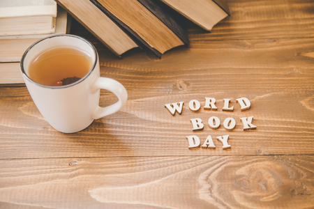 World Book Day. Book background. Selective focus Nature