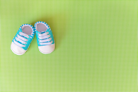 baby accessories for newborns on a colored background. selective focus. nature.