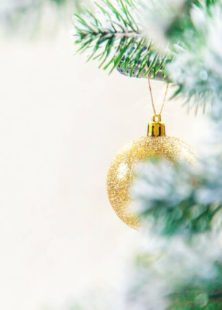 Christmas decorations, New Year decor. Selective focus nature