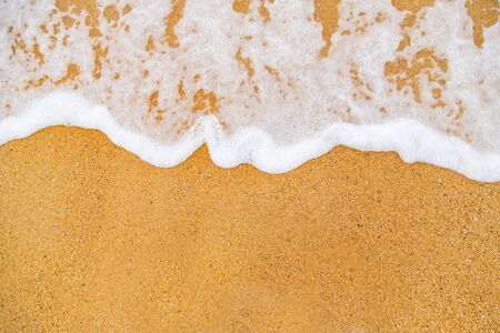 Strandzand en zeekustlijn. Selectieve aandacht. natuur, Stockfoto