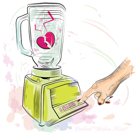 fash: Hearts in a blender Illustration