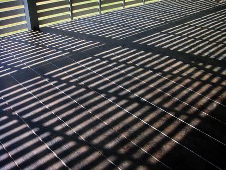 Terrace Sunshine Stock Photo