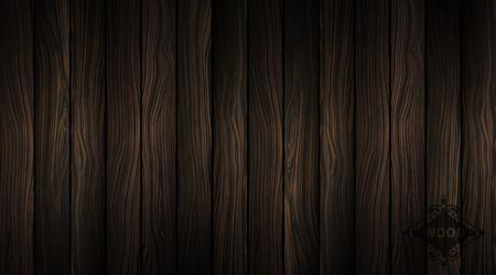 Vector Wood Texture Natural Dark Wooden Background Parquet