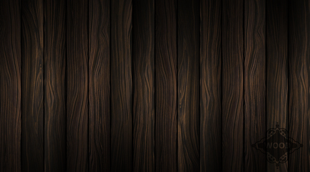 Vector wood texture. Natural Dark Wooden Background. Parquet wallpaper. Boardwalk illustration. Tree bark pattern. Old panels. Vintage plank. Timber floor. Illustration