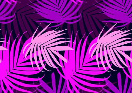 Abstract leaves seamless background. Vector pattern with tropica