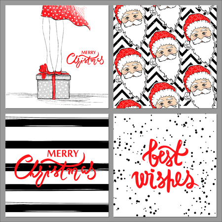 Big collection with Merry Christmas and Happy New Year 2017