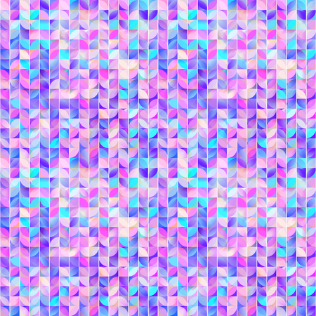 Abstract geometric seamless pattern.Cute mosaic background. Colorful design. Kaleidoscope decorative ornament. Ideal for banners, wrapping paper, textile, fabric, cover.Modern textureGirly wallpaper