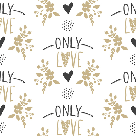 Only Love lettering on a white background