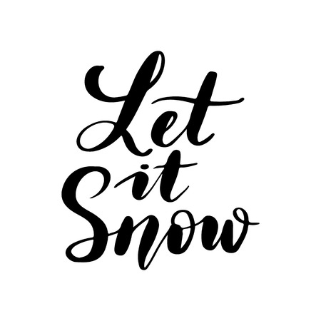Let it snow - Vector hand drawn lettering phrases. Merry Christmas and Happy New Year 2019. Holidays quotes for photo overlays, greeting cards, posters. 일러스트