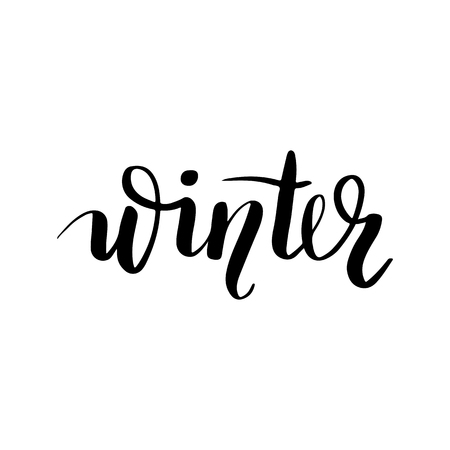 Winter - Vector hand drawn lettering phrases. Merry Christmas and Happy New Year 2019. Modern brush calligraphy. Holidays quotes for photo overlays, greeting cards, posters.