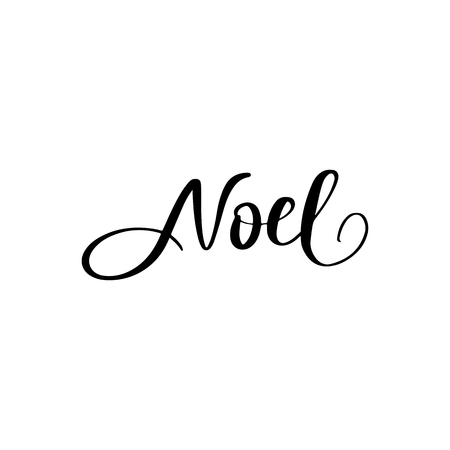 Noel - Vector hand drawn lettering phrases. Merry Christmas and Happy New Year 2019. Holidays quotes for photo overlays, greeting cards, posters.