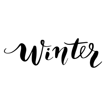 Winter - Vector hand drawn lettering phrases. Merry Christmas and Happy New Year 2019. Holidays quotes for photo overlays, greeting cards, posters.