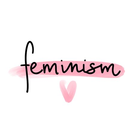 Feminist vector inscription. Woman Motivational phrase, quote or saying. Ilustrace