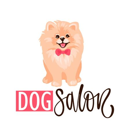 Dog salon, Pet grooming design template. Hair salon for animals. Illustration