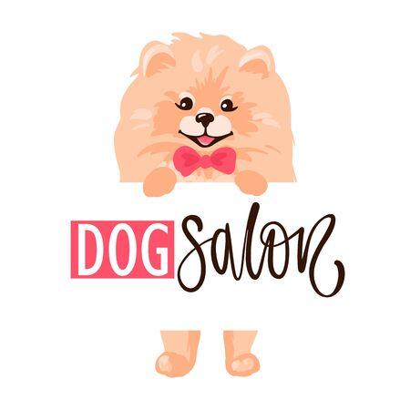 Dog salon, Pet grooming logo design template. Hair salon for animals.